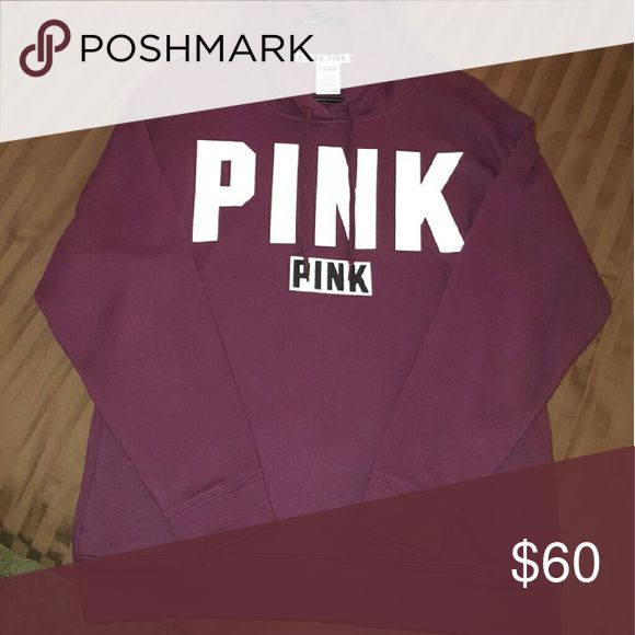 Vs pink game day hoodie Nwot Vs pink game day hoodie Xs/ oversized fit  Maroon Cheaper on Merc PINK Victoria's Secret Sweaters