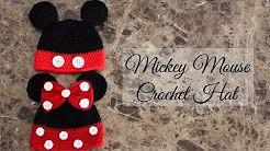 gorros tejidos a crochet paso a paso de mickey - YouTube