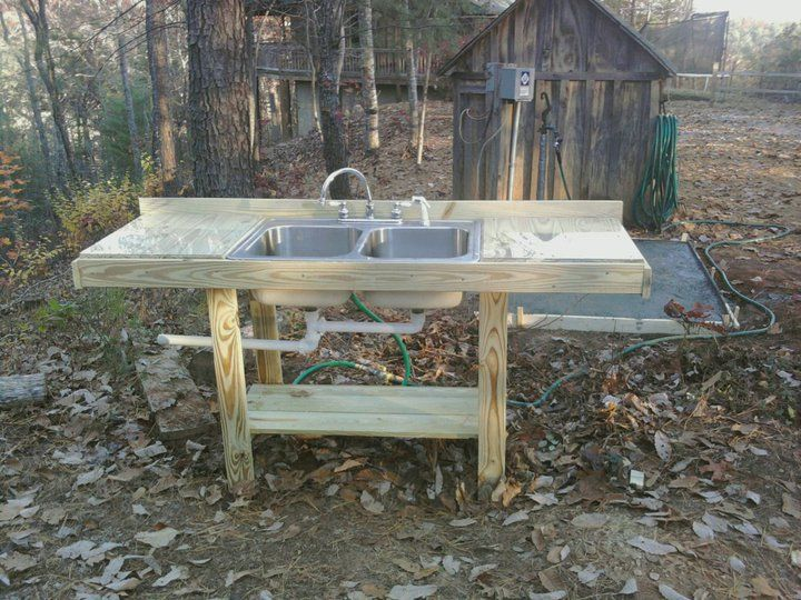 17 best images about outdoor kictens on pinterest logs for Outdoor kitchen counter with sink