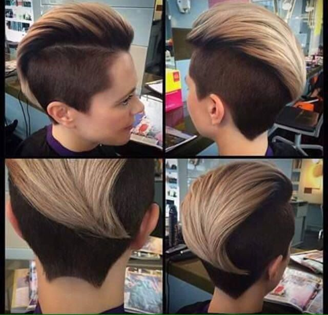 many think its a masculine hair cut but most women have there hair like this