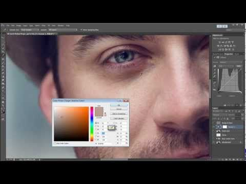 Tutorial: Quickly Remove Bags Under Eyes Using Curves in Photoshop