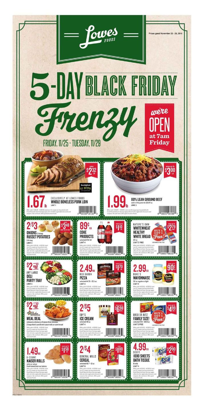 Lowes Weekly Ad November 25 - 29, 2016 - http://www.olcatalog.com/grocery/lowes-weekly-ad-circular.html