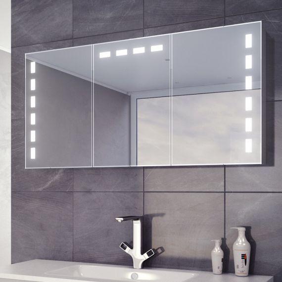 Delfine Led Demister Cabinet Bathroom Mirror Cabinet Large