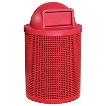 Versatile, practical and SUPER durable! The Classic Trash Receptacle features peforated steel with a plastisol coating. It's low maintance and traditional outdoor furniture look provides for unsurpassed quality! Includes: trash container, lid, trash liners