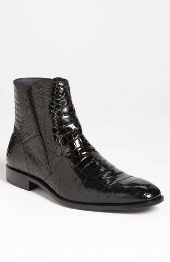 ~*~I Love to see Boots with a Suit ~*~Gives a Daring Edge to Him~*~Mezlan 'Belucci' Alligator Boot available at #Nordstrom