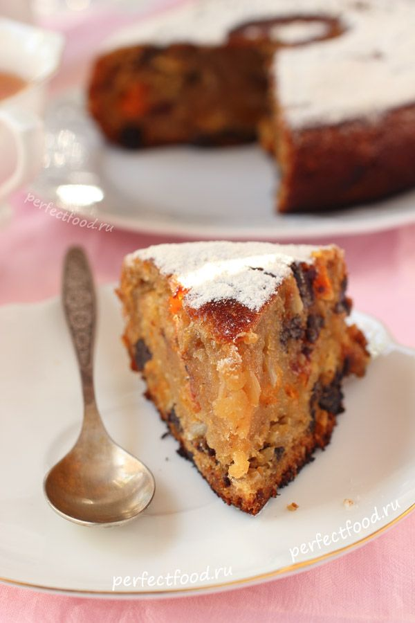 Веганский фруктовый кекс в мультиварке филипс - рецепт с фото