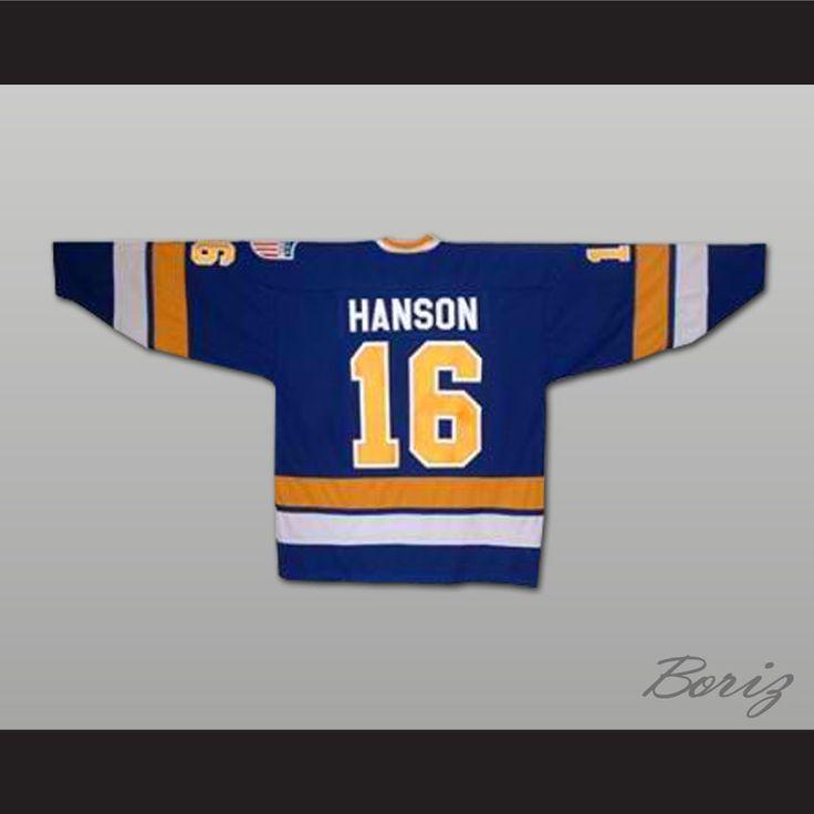 d6a16a76b8f ... NHL Jersey Boriz Customs - Hanson Brothers Jack Hanson 16 Away Hockey  Jersey Slapshot Movie, 47.99 (