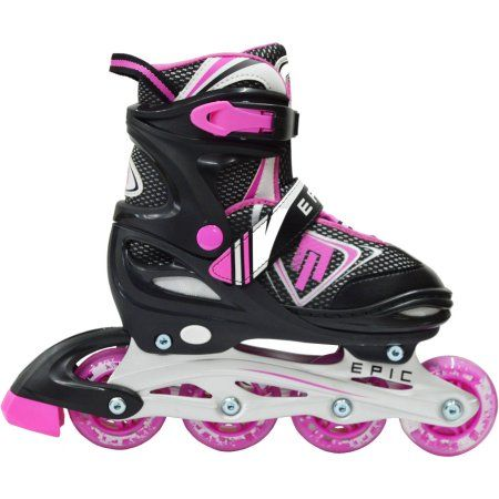 Epic Skates Rage Kids Adjustable Inline Skates, Multicolor