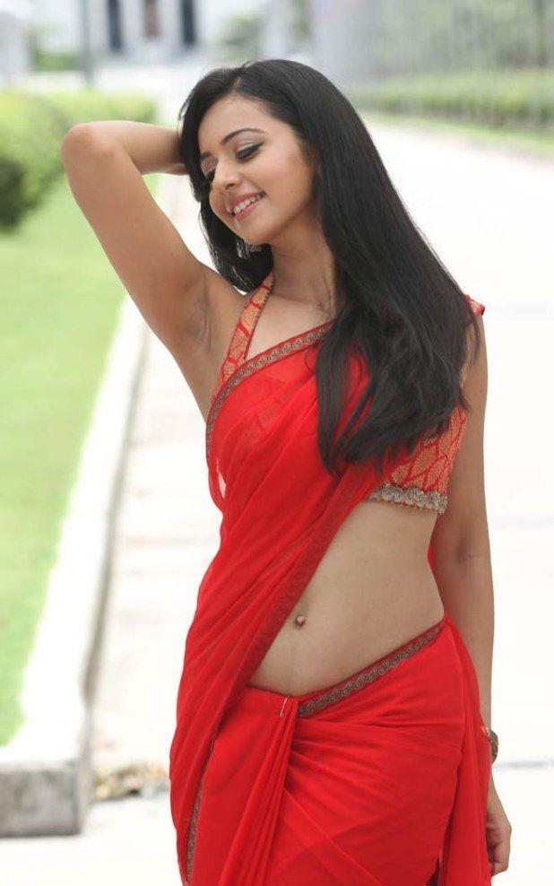 Latest Rakul Preet Singh Latest Hot Navel Stills In Saree