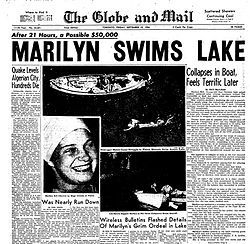 Marilyn Grace Bell Di Lascio is a retired long distance swimmer, born October 19, 1937, in Toronto, Ontario. She was the first person to swim across Lake Ontario and later swam the English Channel and Strait of Juan de Fuca.