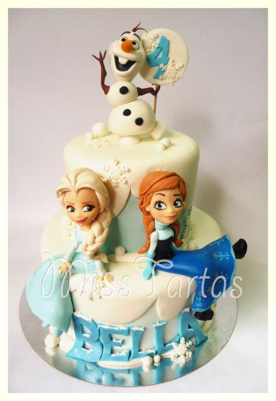 Tarta Frozen muy bonita
