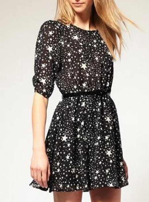 Stars Chiffon Dress Only$42 for now!  Save to win earrings here:http://www.udobuy.com/article-40.html