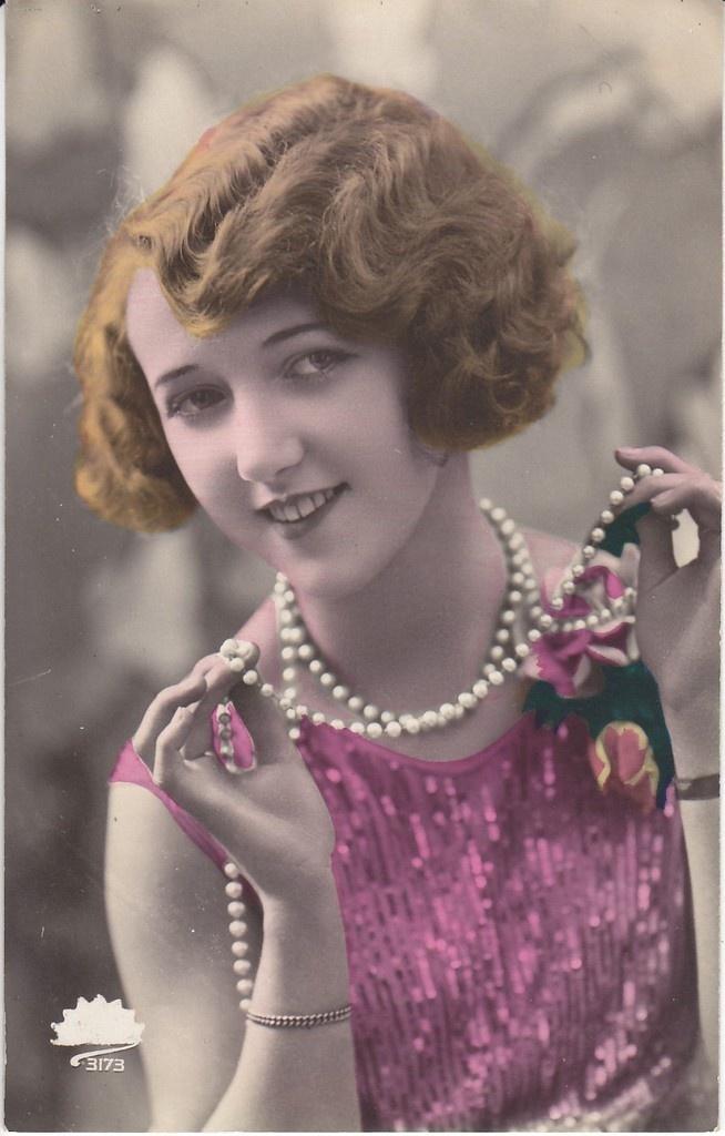 Tinted photo postcard 1920's
