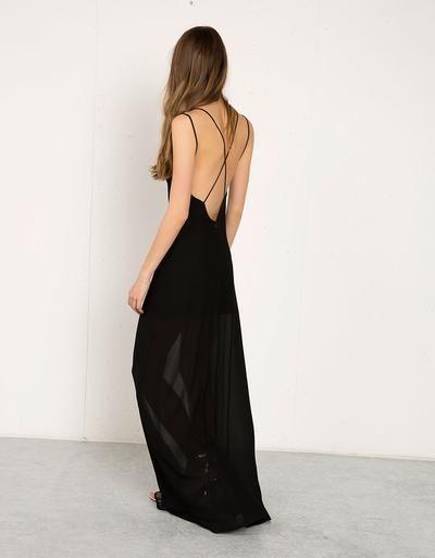 Vestido Bershka comprido detalhe costas - Vestidos e macacões - Bershka Portugal #dress #women #covetme
