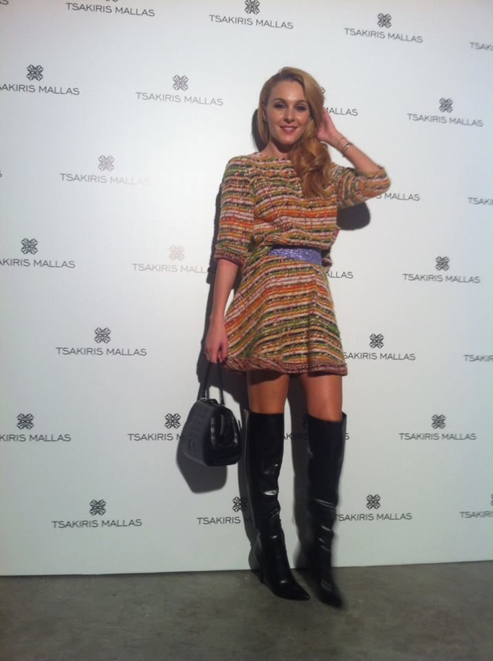 TAMTA wears total alexandRA-IN winter Curly skirt and Blouse inside out!!!