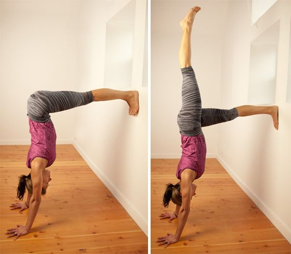 Handstand Prep - accomplished last night at our yoga session! CORE, Core, core!