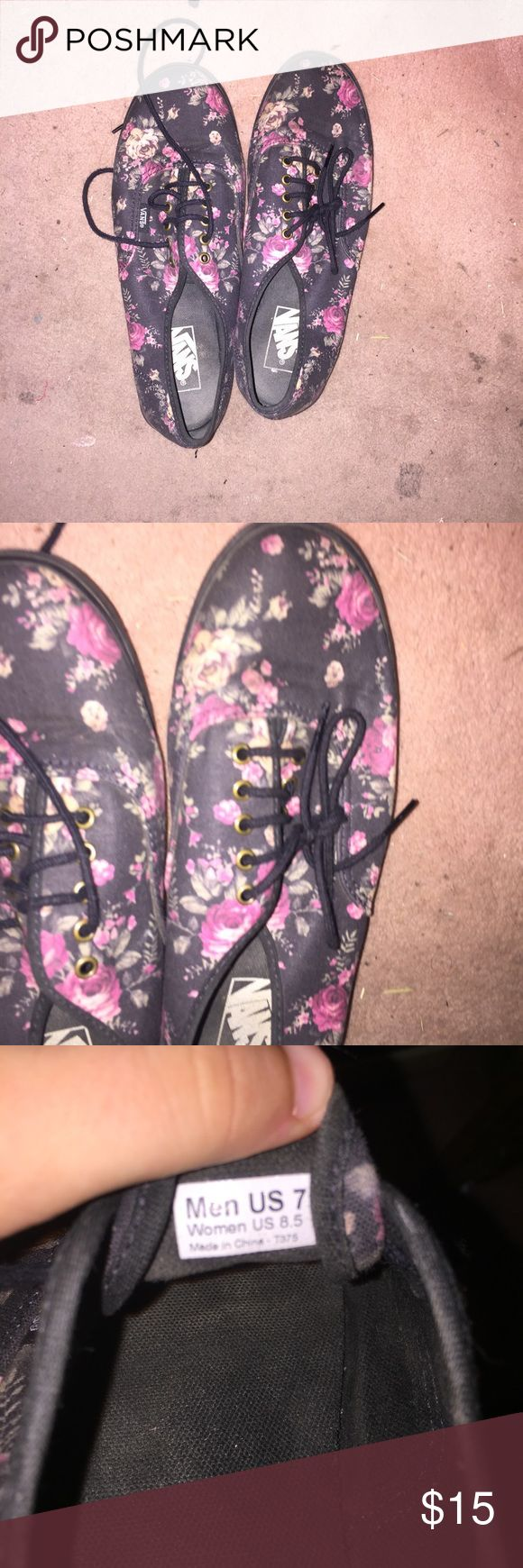 Floral vans This item is in Great condition! Vans Shoes Sneakers