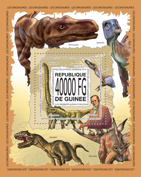 GU 13511 bDinosaurs, (Richar Owen, Herrerasaurus, Brachiosaurus, Sinosauropteryx).