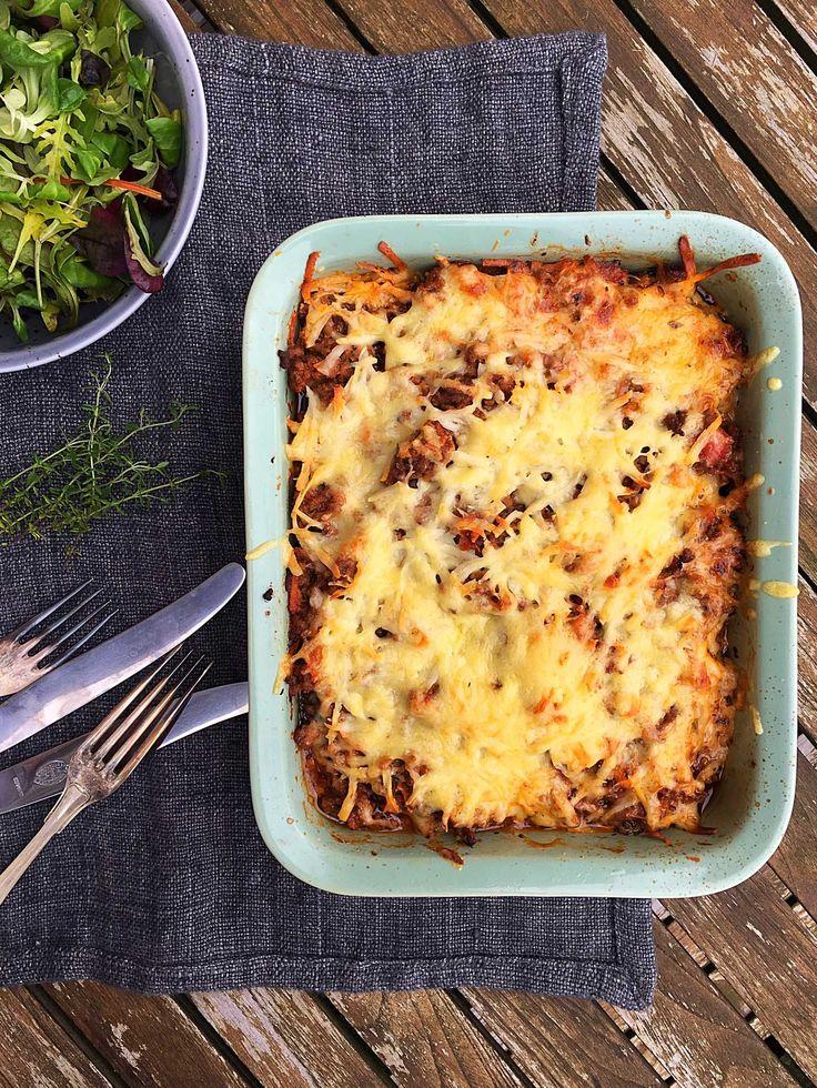 Lækker low carb lasagne med masser af grøntsager. Superlækker og sund familiemad. Opskrift her: Madbanditten.dk