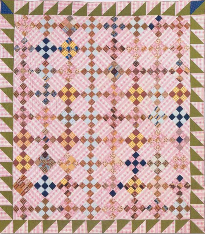 great quilt to take along to work on fun for scraps