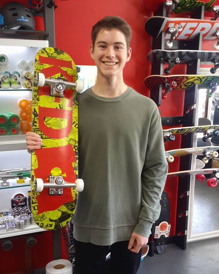 "We spread the #superstokesaturday hype to the dude Nicholas who came by earlier to get the 8"" @kfdskate Wallpaper Complete! Enjoy it skate safe & stay stoked!  Welcome to the #csskateshopfam!   #csskateshop"