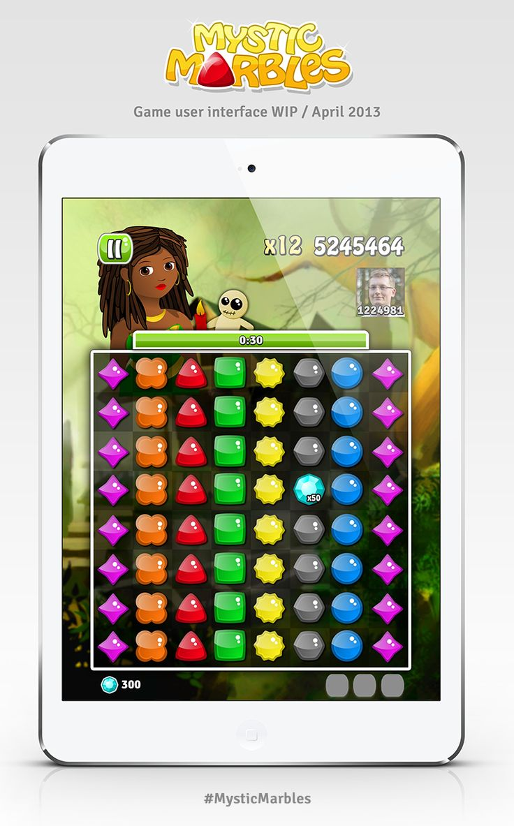 Mystic Marbles game user interface WIP (April 2013). #MysticMarbles #iPhone #iPad #Android #Game