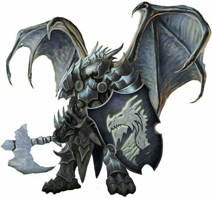 Half Dragon Fighter - Pathfinder PFRPG DND D&D d20 fantasy