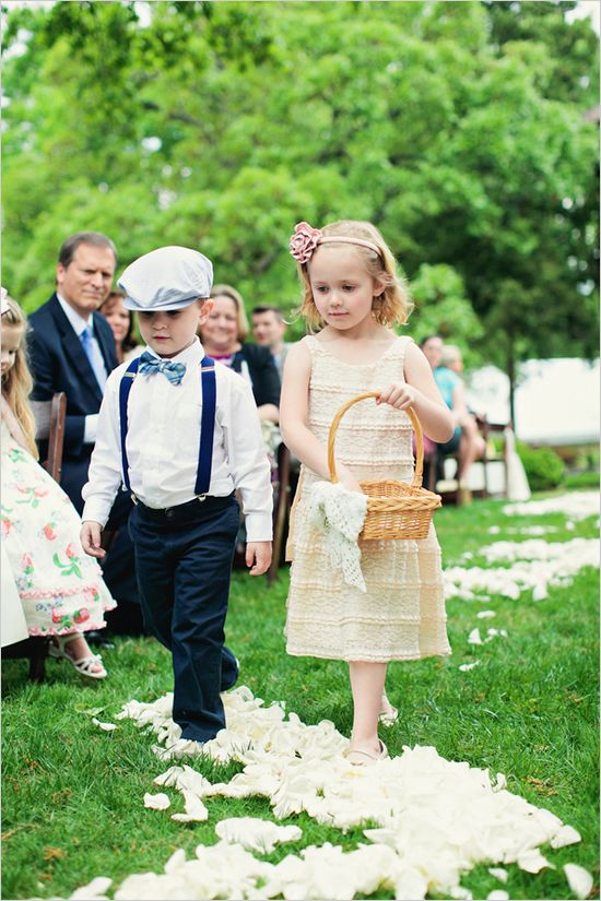 ring bearer and flower girl outfit ideas