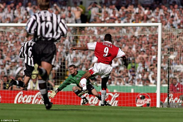Nicolas Anelka makes it 2-0 past Newcastle's Shay Given during the FA Cup ...