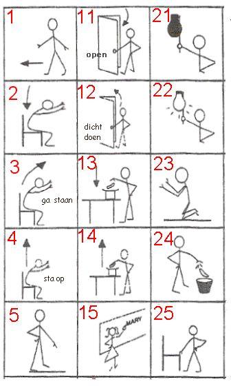 verschillende oefeningen voor op digibord