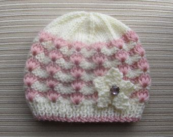 Knitting Pattern 108 Lacy Waves Hat in Sizes Child and Adult