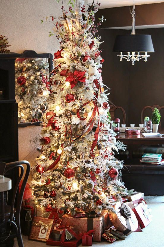 Pretty! Christopher Hiedeman | Flocked trees | Holiday ...