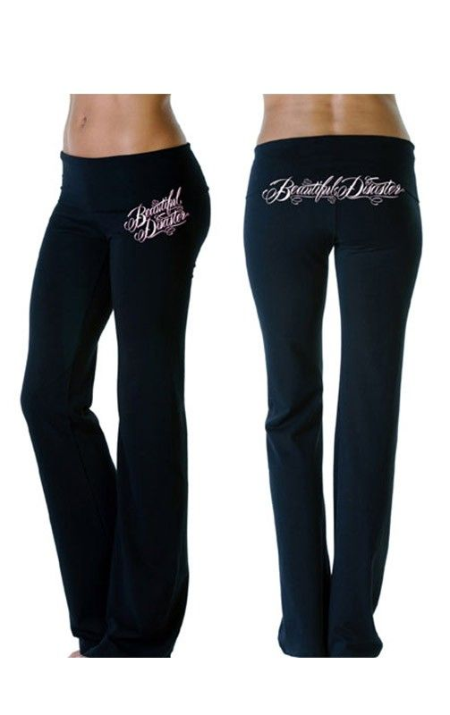 Scripty Pants by Beautiful Disaster... yoga pants.... yah, get me a few of these too.  ;)