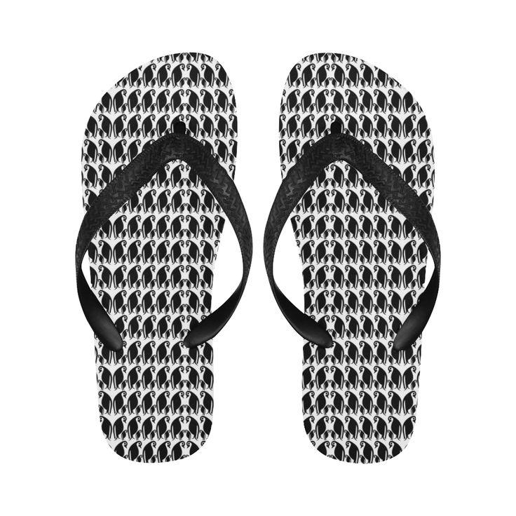 Penguin Huddle Flip Flops for Men/Women (Model 040)