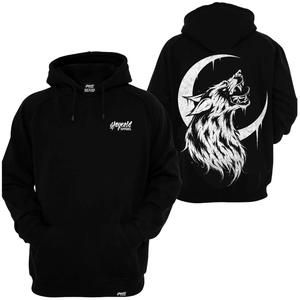 Stay Cold Apparel, Houl With The Wolves Hoodie, Tattoo Clothing, Tattoo Apparel, Tattoo Hoodie, Dark Clothing, Metal Clothing, Wolf, Moon