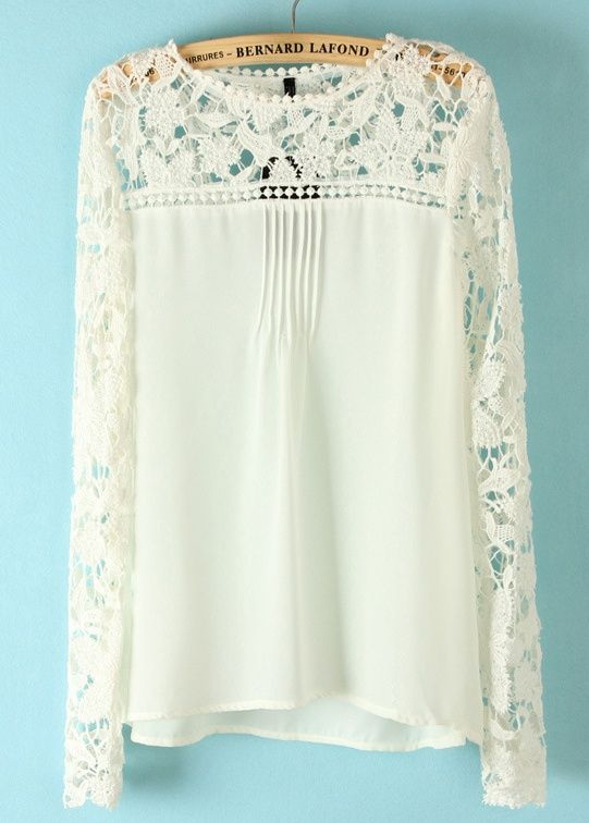 Pretty long sleeved lace blouse. I need this. Pretty sure Abby on Y had this on last week ;) good taste