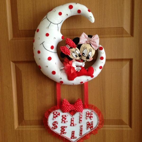 Abla Kardeş Minnie Mouse Bebek Kapı Süsü