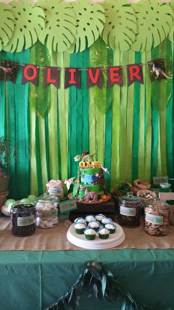 Dinosaur Birthday Party Treats Table Dinosaur Birthday
