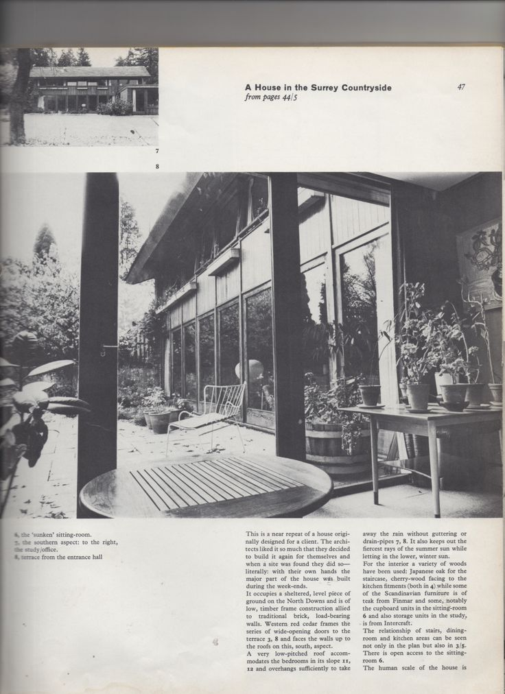View from hall to terrace - private house 1957 Decorative ART in modern interiors 1965/66 Decorative Art•55 studio Vista Limited London