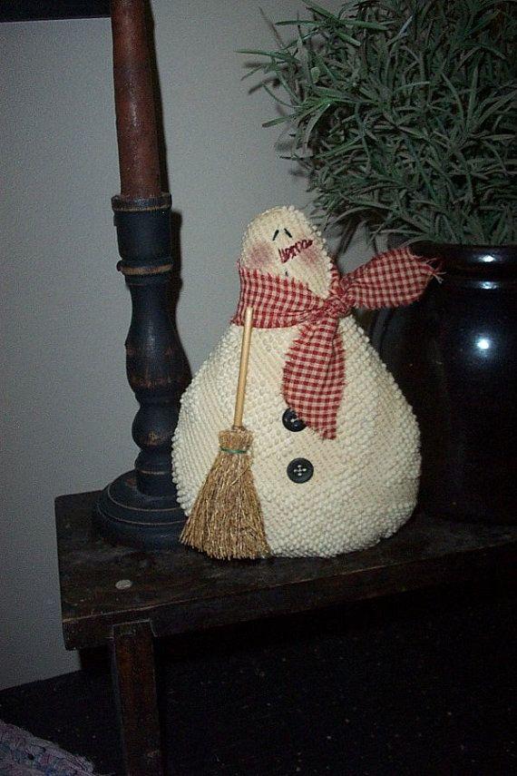 Chubby Snowman Vintage Chenille. $10.00, via Etsy.