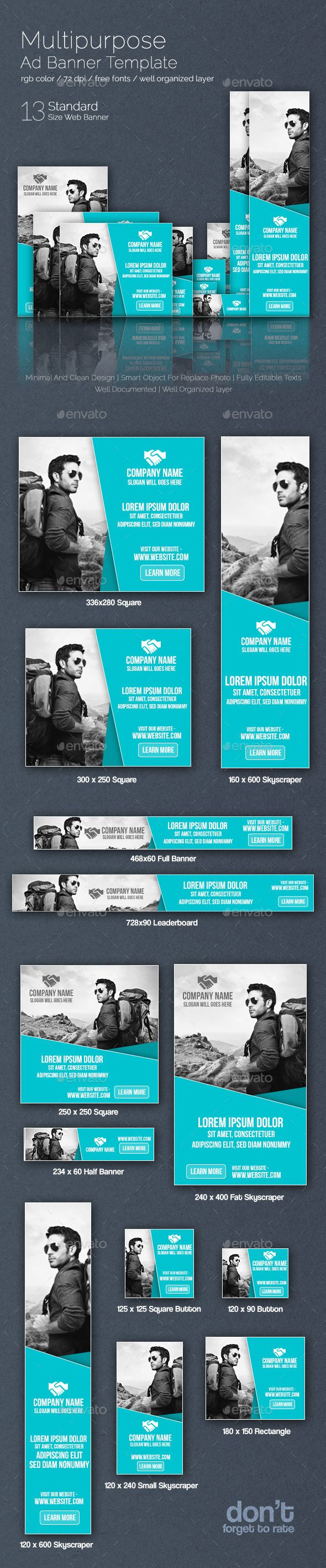 Multipurpose Web Ad Banner Template PSD | Buy and Download: http://graphicriver.net/item/multipurpose-web-ad-banner/8859899?WT.ac=category_thumb&WT.z_author=nazmul57&ref=ksioks