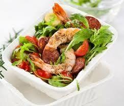 Salade crevette et chorizo