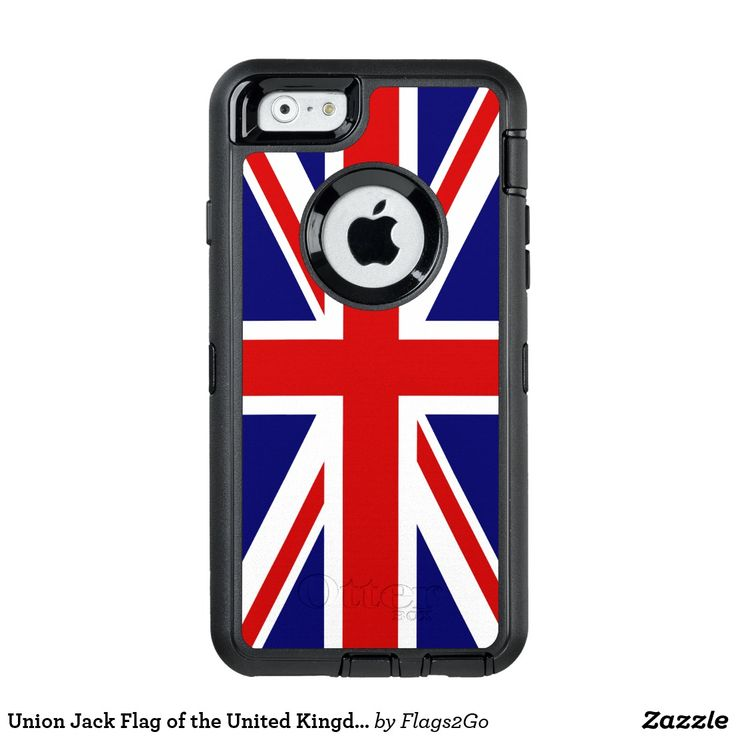 Union Jack Flag of the United Kingdom OtterBox Defender iPhone Case - The Flag of United Kingdom of Great Britain and Northern Ireland is popularly called the Union Jack. The flag is comprised of a blue field with the red cross of Saint George (patron saint of England) edged in white superimposed on the diagonal red cross of Saint Patrick (patron saint of Ireland), which is superimposed on the diagonal white cross of Saint Andrew (patron saint of Scotland). Sold at Flags2Go on Zazzle.