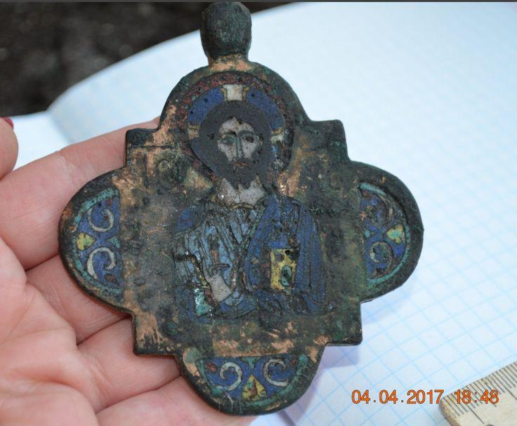 Kievan Rus,  12 century #enamel #bronze #original #holy #amulet #Pantocrator