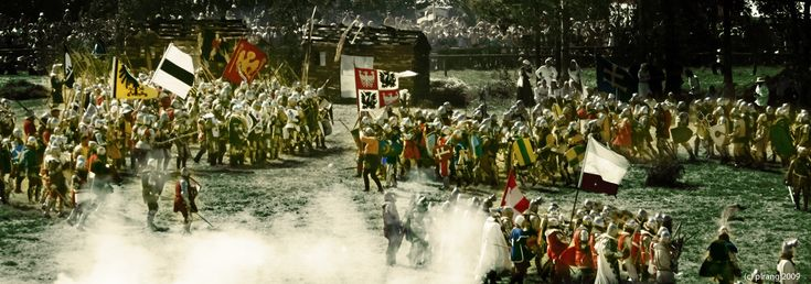 Battle of Grunwald  - biggest medieval battle reenactment - takes place every year in July.