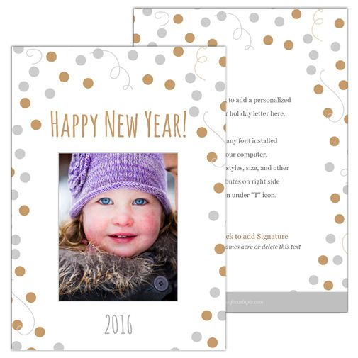 Celebration Spheres (5×7 2-Sided) Holiday Christmas Photo Card template from Focus in Pix.