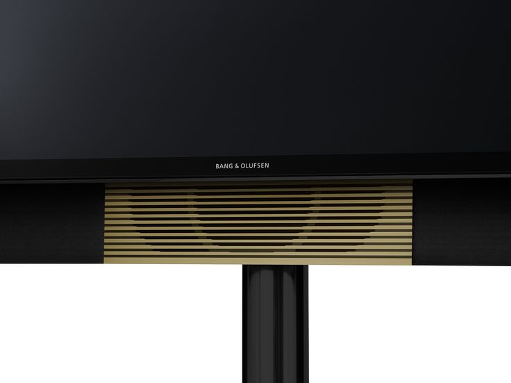 BeoVision Avant with brass toned speaker.