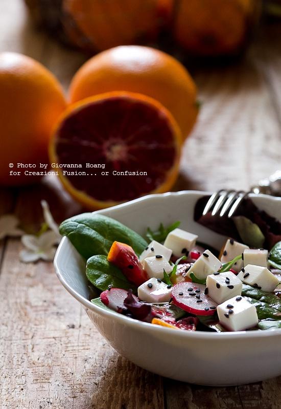 Tory salad with orange vi sigarette! - Insalata di tofu con vinaigrette all'arancia!