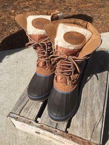Khombu Steel Shank Brown Suede Leather Cozy Winter Waterproof Pac Boots 7M | eBay