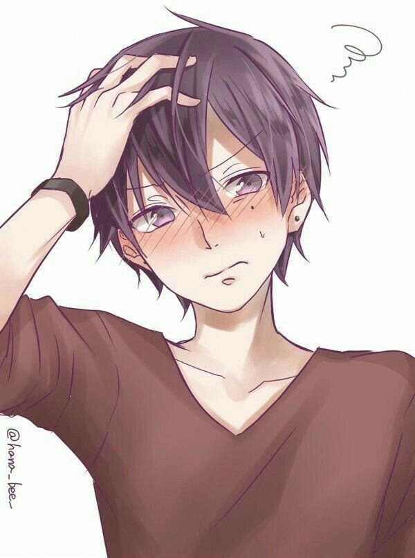 What A Shy Boy Animeguys Anime Drawings Boy Blushing Anime Cute Anime Guys